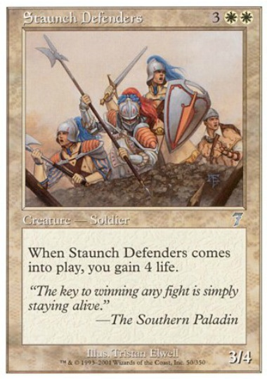 【7ED】 Staunch Defenders/堅牢な防衛隊 (英) No.050