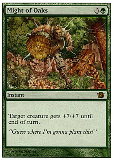 NM//M Might of Oaks Magic The Gathering M10