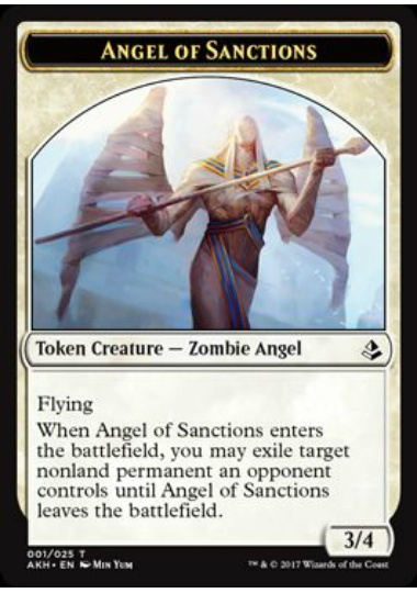 【AKH-TOKEN】 Angel of Sanctions Token/賞罰の天使トークン (英) No.001