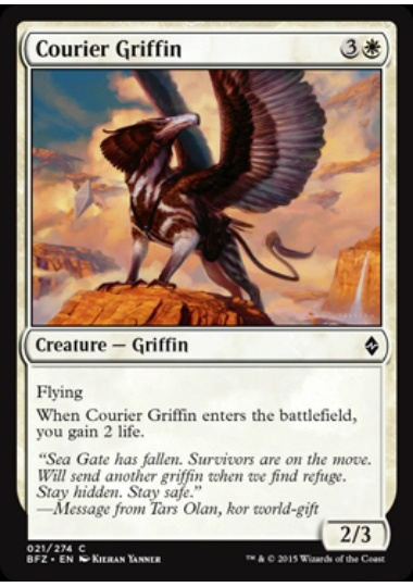 【BFZ】 Courier Griffin/グリフィンの急使 (英) No.021