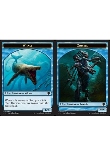 【C14-TOKEN】 Whale Token/鯨トークン (英) No.010 - Zombie Token/ゾンビトークン (英) No.011