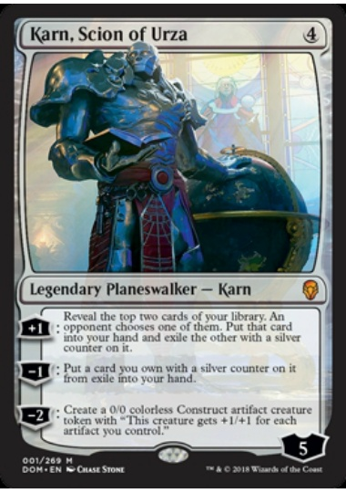 【DOM】 Karn, Scion of Urza/ウルザの後継、カーン (英) No.001