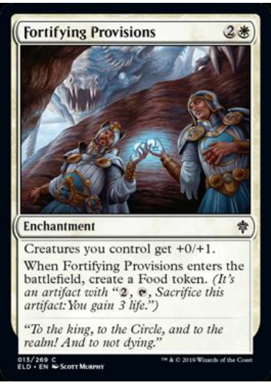 【ELD】 Fortifying Provisions/籠城の準備 (英) 【Foil】 No.013