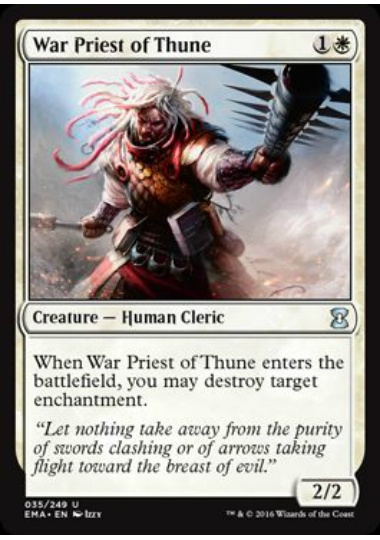 (英)テューンの戦僧 / War Priest of Thune【EMA】 【Foil】 No.035
