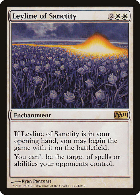 【M11】 Leyline of Sanctity/神聖の力線 (英) 【Foil】 No.021