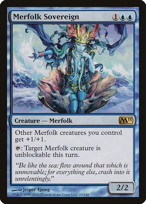 【M11】 Merfolk Sovereign/マーフォークの君主 (英) 【Foil】 No.065