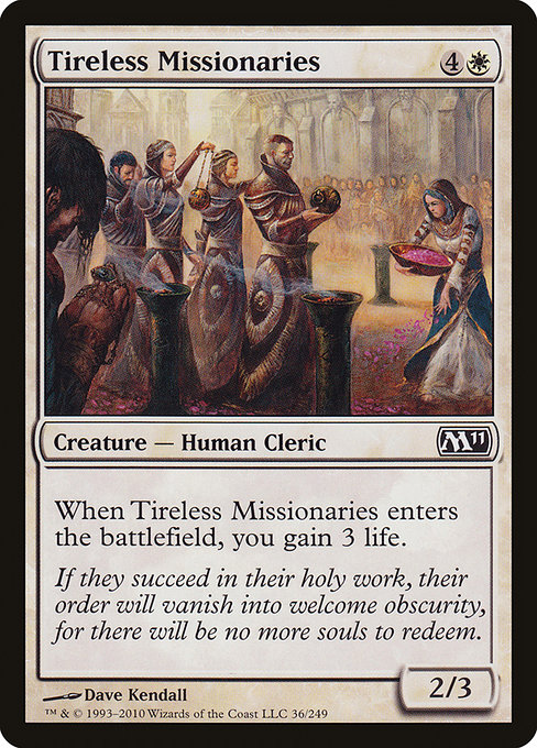 【M11】 Tireless Missionaries/不屈の宣教師 (英) 【Foil】 No.036