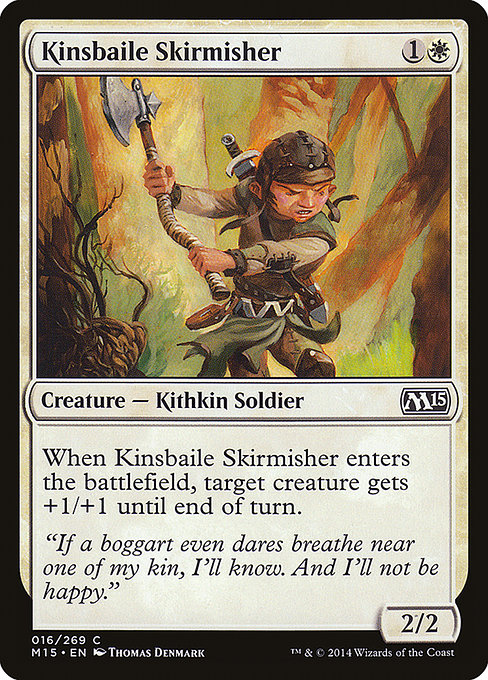 【M15】 Kinsbaile Skirmisher/キンズベイルの散兵 (英) 【Foil】 No.016