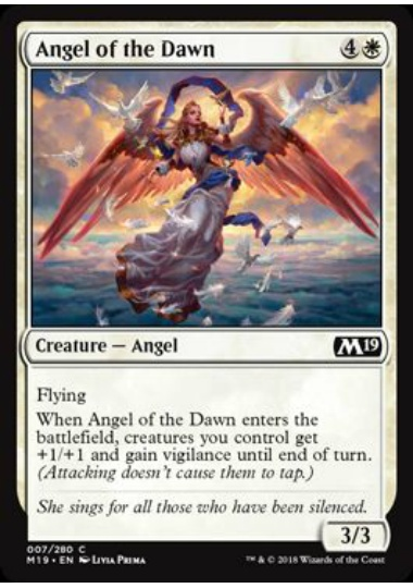 【M19】 Angel of the Dawn/暁の天使 (英) 【Foil】 No.007