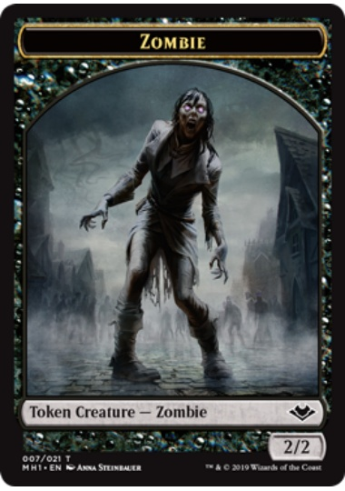 【MH1-TOKEN】 Zombie Token/ゾンビトークン (英) 【Foil】 No.007