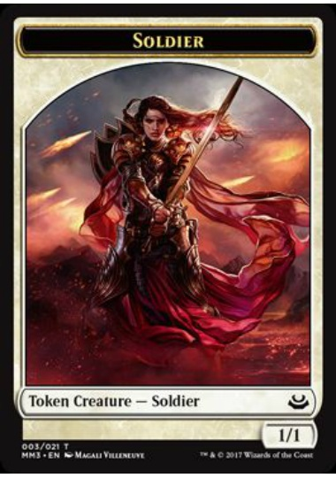 【MM3-TOKEN】 Soldier Token/兵士トークン (英) No.003