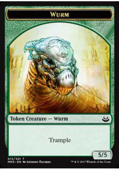 【MM3-TOKEN】 Wurm Token/ワームトークン (英) No.015