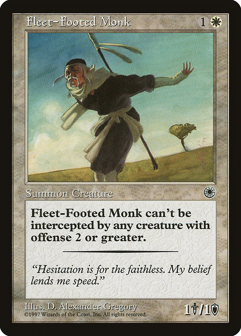 【POR】 Fleet-Footed Monk/俊足の修道士 (英) No.015
