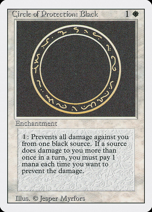 【3ED】 Circle of Protection: Black/黒の防御円 (英) No.009