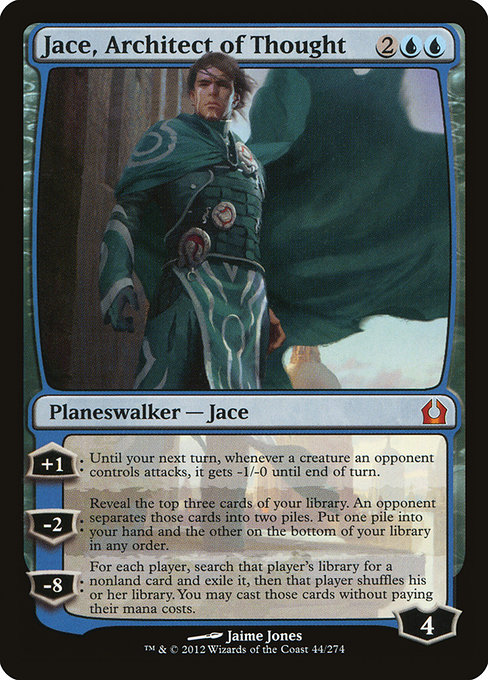 【RTR】 Jace, Architect of Thought/思考を築く者、ジェイス (英) 【Foil】 No.044