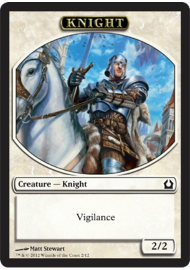 【RTR-TOKEN】 Knight Token/騎士トークン (英) No.002