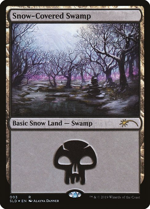 【SLD】 Snow-Covered Swamp/冠雪の沼 (英) 【Foil】 No.003