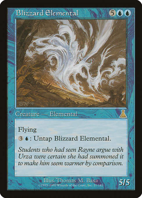 【UDS】 Blizzard Elemental/吹雪の精霊 (英) 【Foil】 No.027