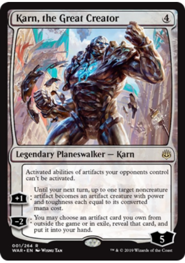 【WAR】 Karn, the Great Creator/大いなる創造者、カーン (英) 【Foil】 No.001