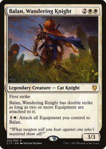 EDHデッキ紹介その137(Balan, Wandering Knight/放浪の騎士、バーラン)